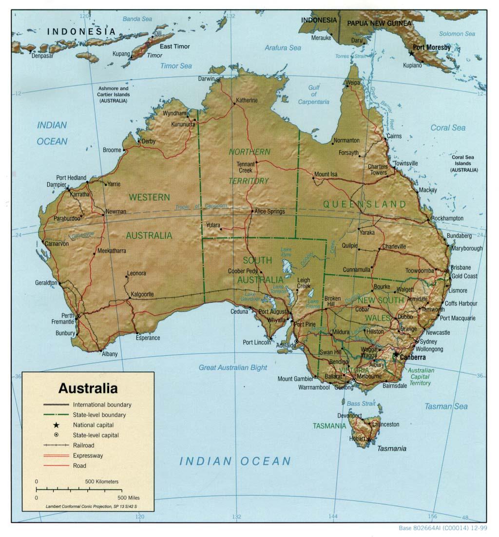 Australia Map - Australia us map